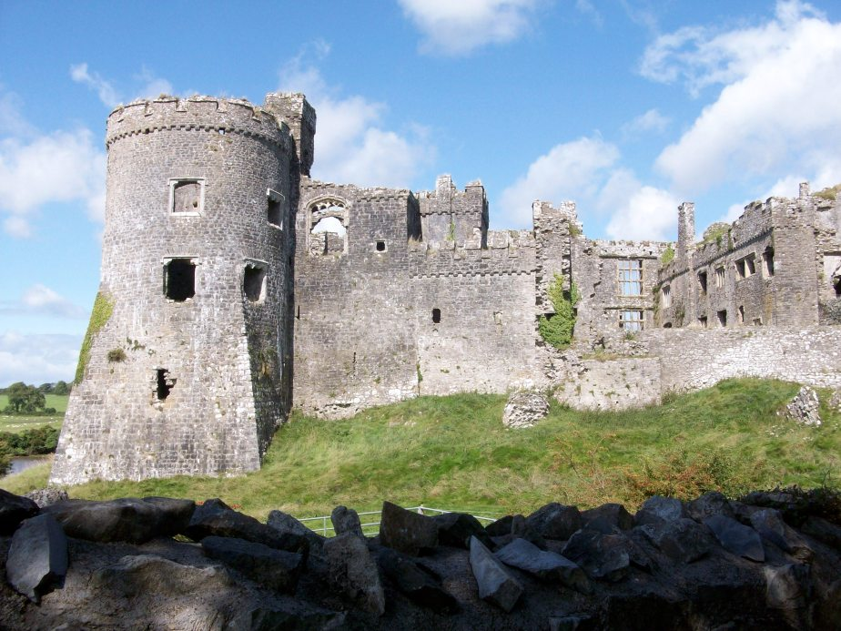 Carew Castle tower and wall ALP