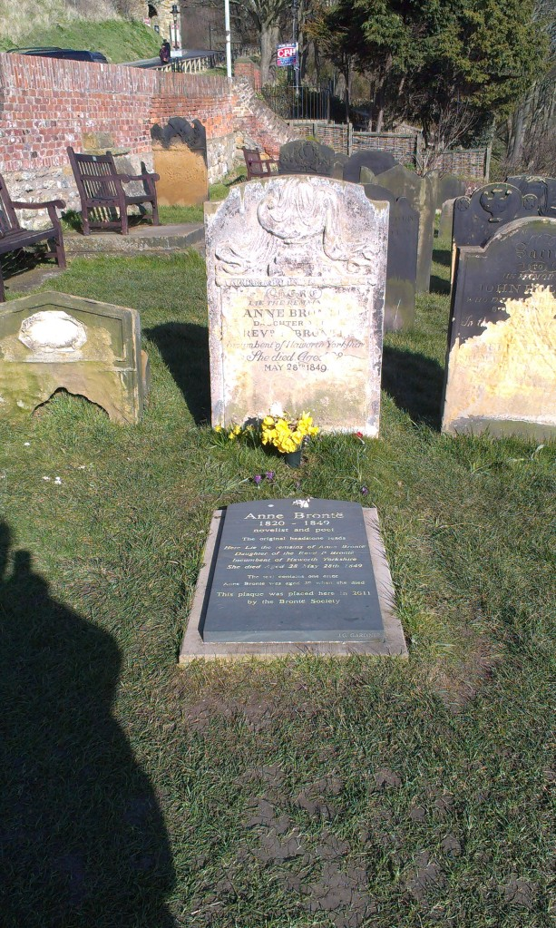 The grave of Anne Bronte