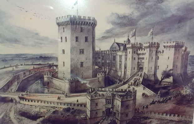 Display board detail showing how the castle looked in the sixteenth century.
